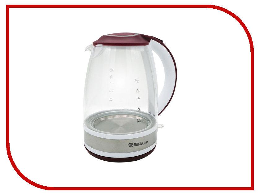 Чайник Sakura SA-2711 White-Red
