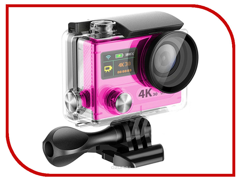 Экшн-камера EKEN H8 Ultra HD Pink eken pano360 экшн камера