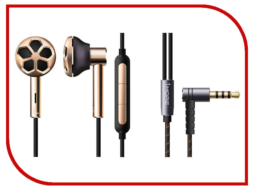 лучшая цена Xiaomi 1More E1008 Dual Driver In-Ear Headphones Gold