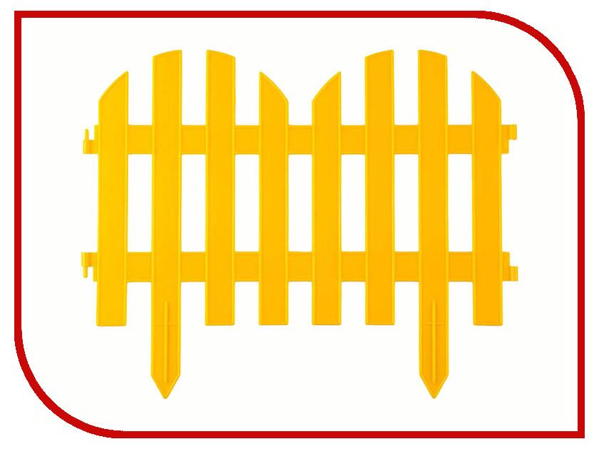 Забор декоративный Palisad Романтика 28x300cm Yellow 65023