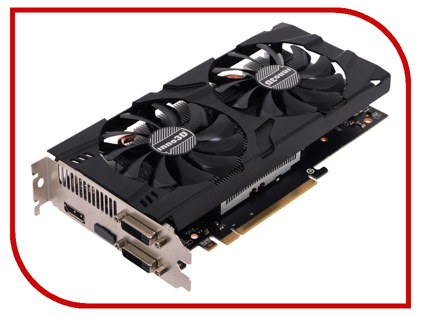 Видеокарта Inno3D GeForce GTX 1060 Twin X2 1506Mhz PCI-E 3.0 3072Mb 8000Mhz 192 bit 2xDVI HDMI HDCP N106F-2SDN-L5GS видеокарта 6144mb msi geforce gtx 1060 gaming x 6g pci e 192bit gddr5 dvi hdmi dp hdcp retail