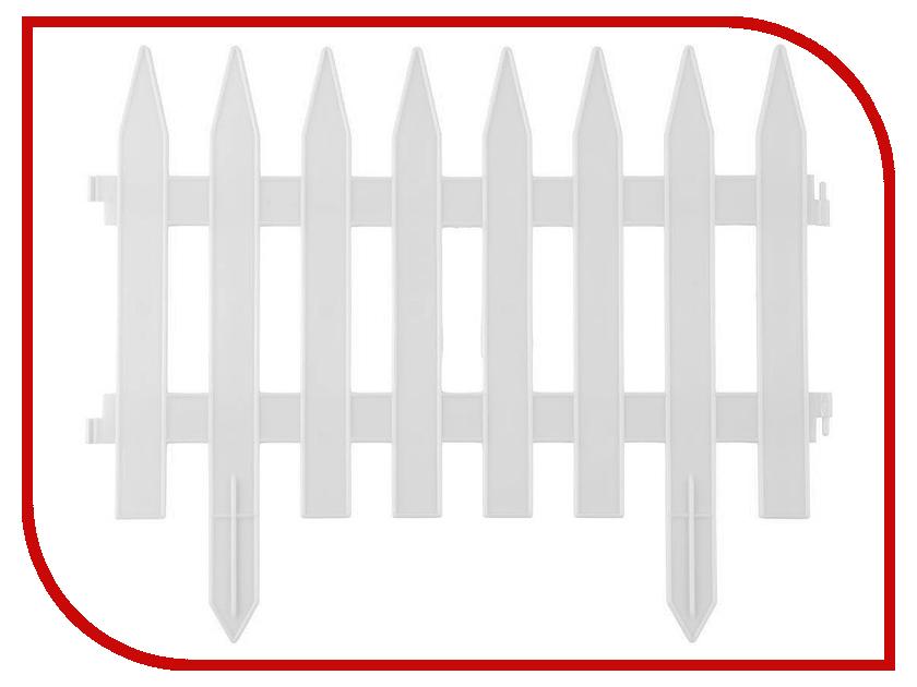 Забор декоративный Palisad Рейка 28x300cm White 65004