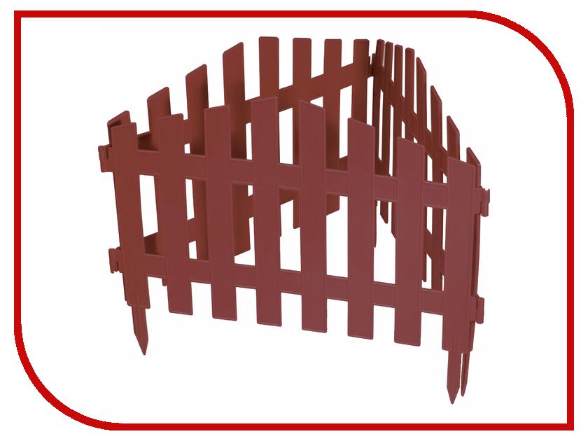 Забор декоративный Palisad Марокко 28x300cm Terracotta 65032