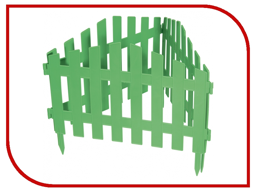 Забор декоративный Palisad Марокко 28x300cm Green 65030