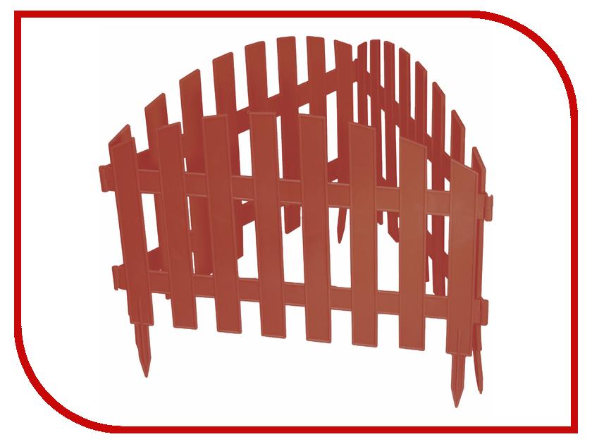 Забор декоративный Palisad Винтаж 28x300cm Terracotta 65015