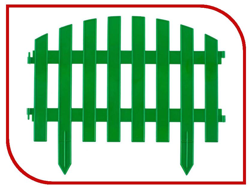 Забор декоративный Palisad Винтаж 28x300cm Green 65012
