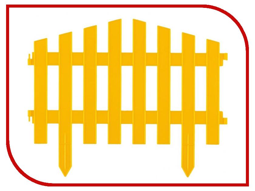 Забор декоративный Palisad Винтаж 28x300cm Yellow 65010