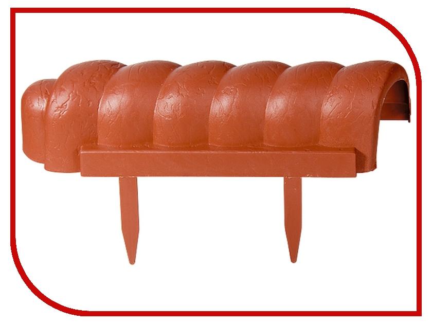 Бордюр Palisad Волна 7x350cm Terracotta 65045