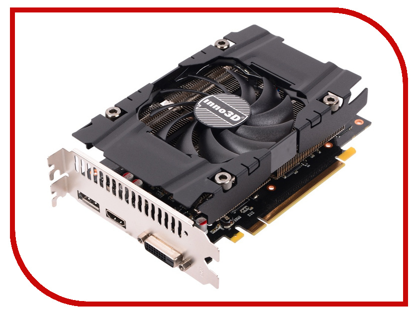 Видеокарта Inno3D GeForce GTX 1060 Compact 1506Mhz PCI-E 3.0 3072Mb 8000Mhz 192 bit DVI HDMI HDCP N1060-4DDN-L5GM