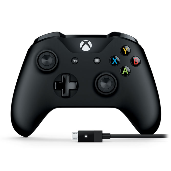 Геймпад Microsoft XBOX One Wireless Controller Black + Кабель для Windows 10 4N6-00002 геймпад microsoft xbox one wireless controller gray green wl3 00061