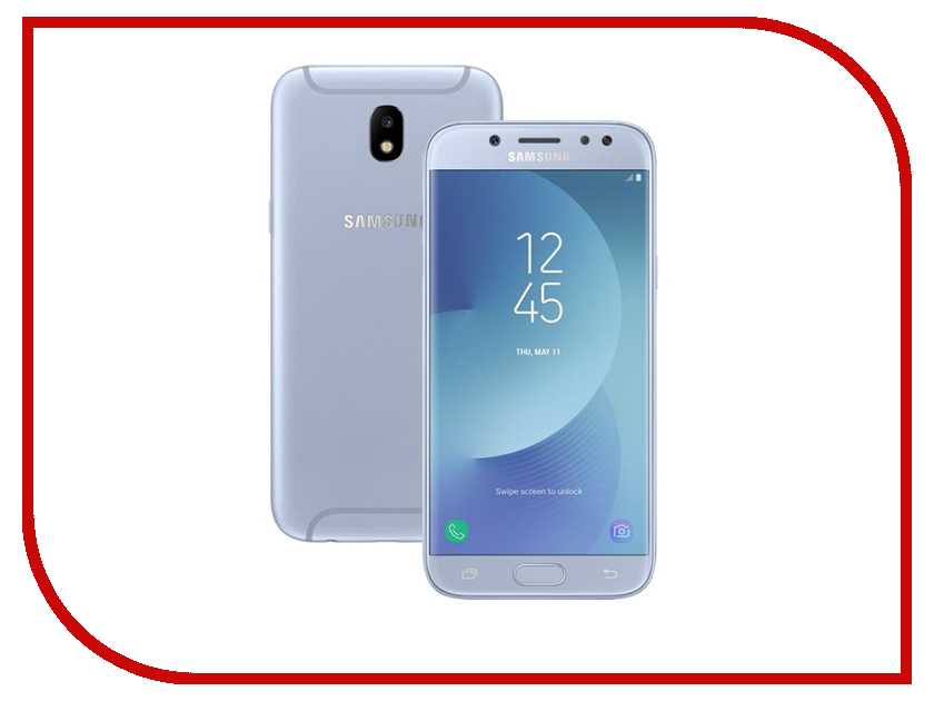 Сотовый телефон Samsung Galaxy J5 (2017) 16Gb Blue телефон samsung galaxy sm j530f j5 2017 16gb голубой