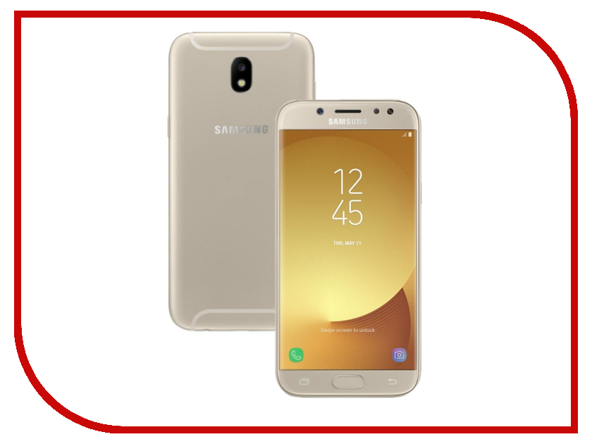 Сотовый телефон Samsung Galaxy J5 (2017) 16Gb Gold телефон samsung galaxy sm j530f j5 2017 16gb голубой