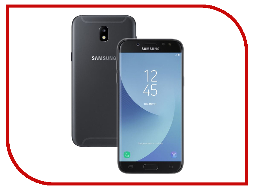 Сотовый телефон Samsung Galaxy J5 (2017) 16Gb Black сотовый телефон samsung sm a500f ds galaxy a5 duos white