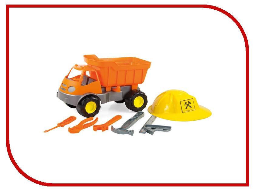 Игрушка Zebratoy Самосвал c каской и инструментами 15-10688 машина zebratoys трактор c каской и лопатой 15 10593