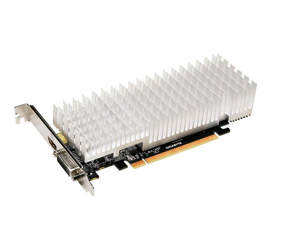 Видеокарта GigaByte GeForce GT 1030 1227Mhz PCI-E 3.0 2048Mb 6008Mhz 64 bit DVI HDMI HDCP Silent Low Profile GV-N1030SL-2GL видеокарта gigabyte geforce gt 730 gv n730d5 2gl pci e 2048mb 64 bit retail
