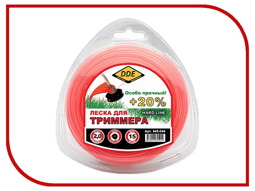 Аксессуар Леска для триммера DDE Hard Line 2.0mm x 15m Grey-Red 645-044