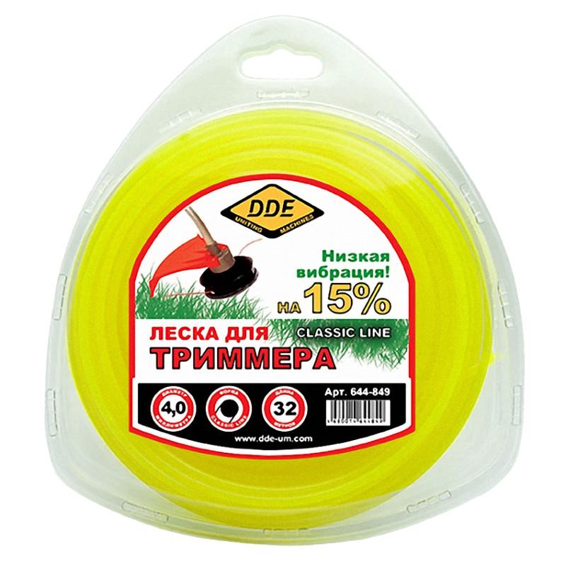 Леска для триммера DDE Classic Line 4.0mm x 32m Yellow 644-849