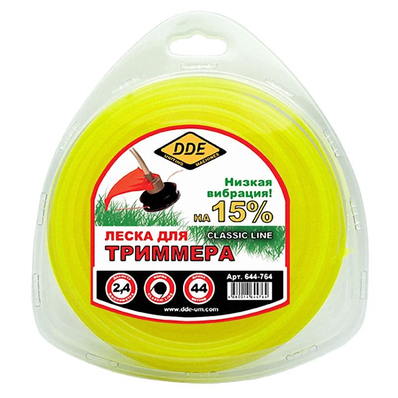 Леска для триммера DDE Classic Line 2.4mm x 44m Yellow 644-764