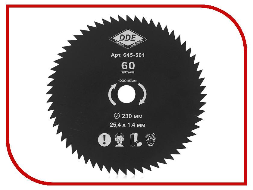 Аксессуар Нож для триммера DDE Wood Cut 60/230/25.4mm 645-501 нож dde 645 518