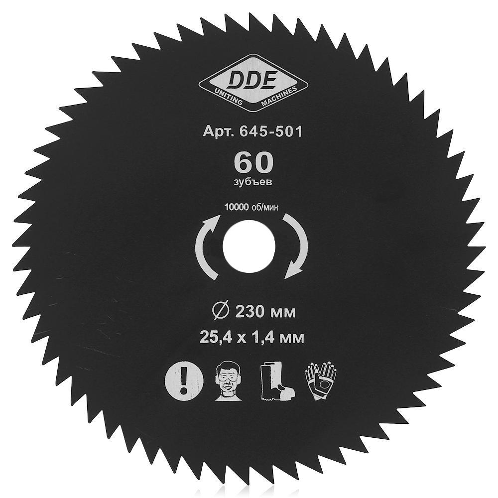Аксессуар Нож для триммера DDE Wood Cut 60/230/25.4mm 645-501 аксессуар подвес dde профи 648 441