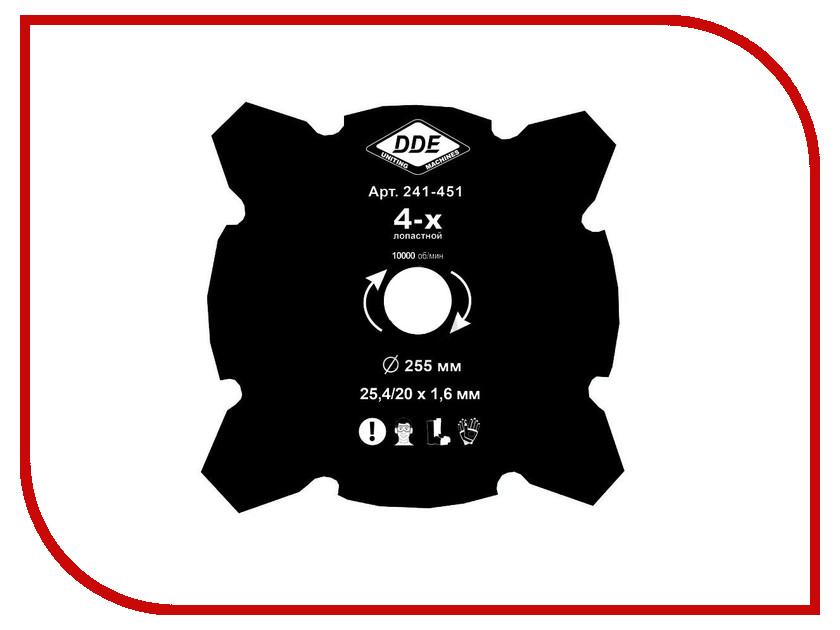 Аксессуар Нож для триммера DDE Grass Cut 255x25.4/20mm 241-451 аксессуар катушка для триммера dde wind 640 094