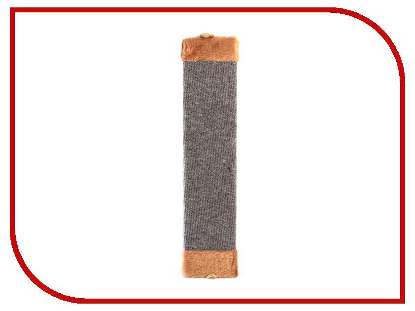 Когтеточка Царапка ковролиновая средняя с мехом 51x11cm А222