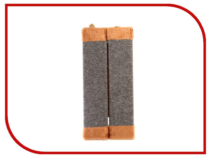 Когтеточка Царапка ковролиновая угловая с мехом 51x22cm А224<br>
