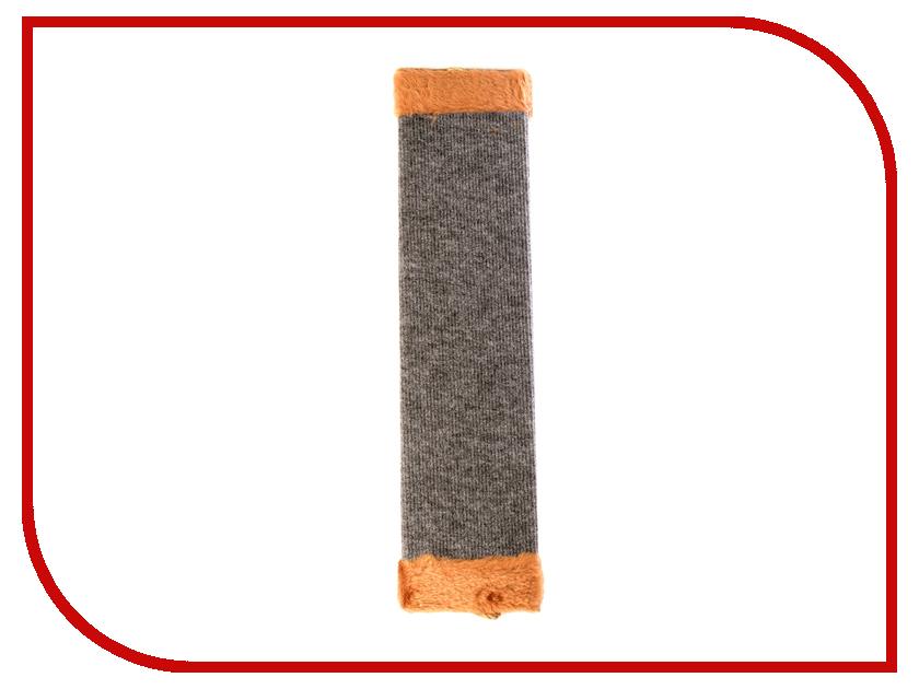 Когтеточка Царапка ковролиновая большая с мехом 57.5x14cm А322