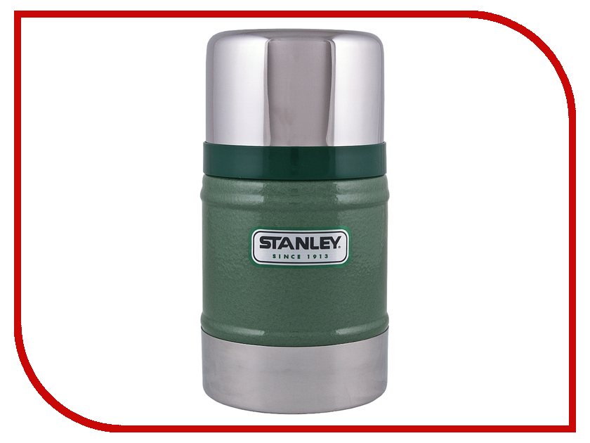 Термос Stanley Classic 500ml Green 10-00811-010 термос stanley classic vacoom flask 500ml dark blue 10 00811 013
