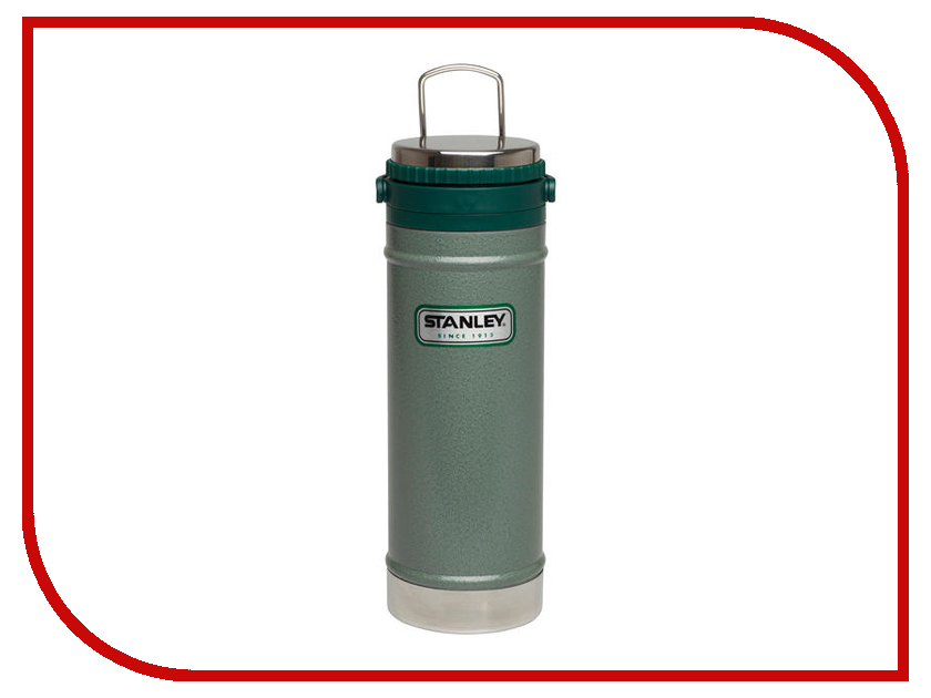Термос Stanley Classic 470ml Green 10-01855-003 термос stanley classic vacoom flask 500ml dark blue 10 00811 013