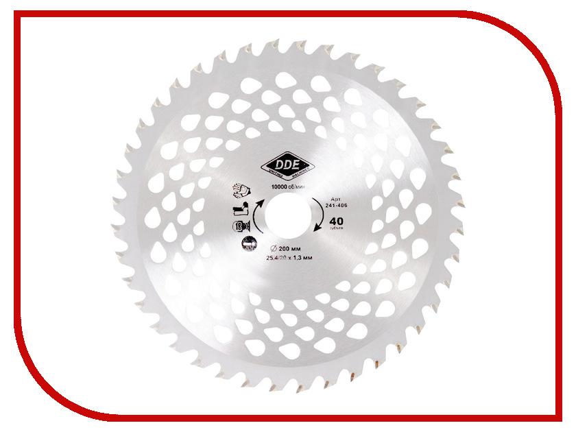 Аксессуар Нож для кустореза DDE Wood Cut 40/200/25.4/20mm 241-406 гибкий вал dde 241 727 zx45 4м