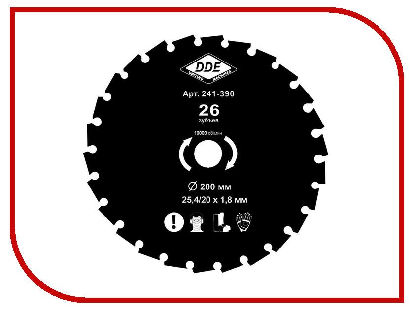 Аксессуар Нож для кустореза DDE Wood Cut 26/200/25.4/20mm 241-390 гибкий вал dde 241 727 zx45 4м