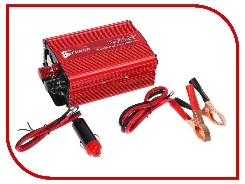Автоинвертор TORSO TP-24-500 (500Вт) 1410971 с 24В на 220В