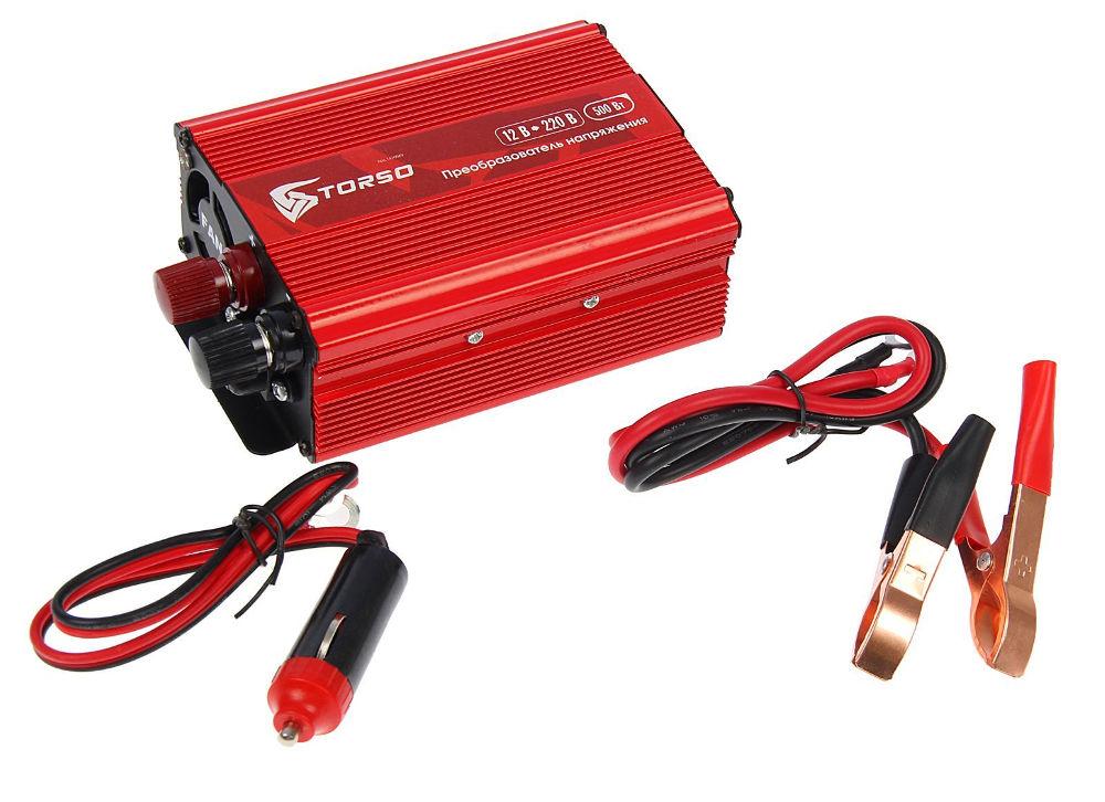 Автоинвертор Torso TP-12-500 (500Вт) 1410969 с 12В на 220В