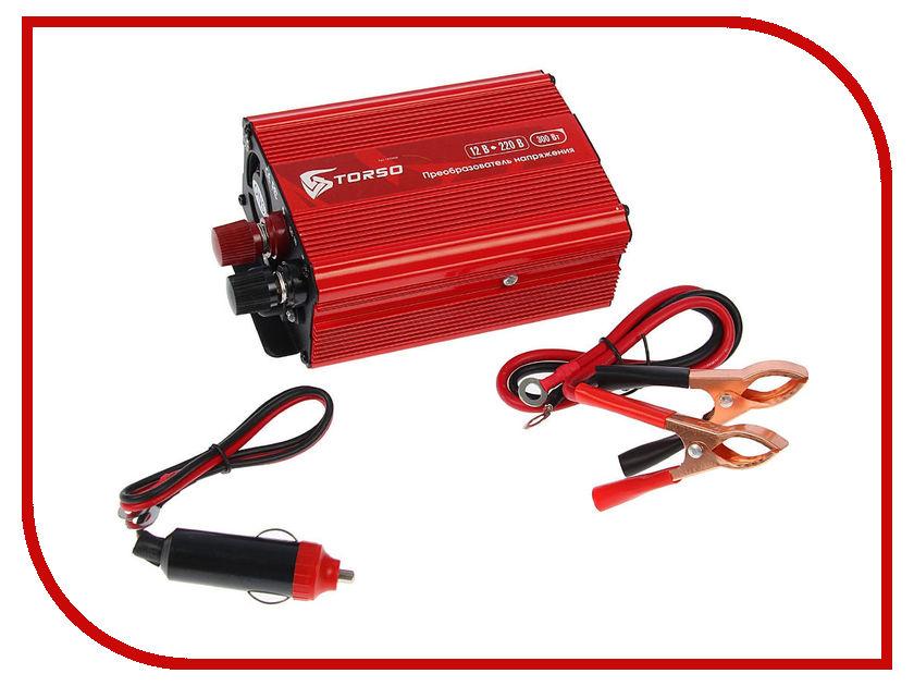 Автоинвертор TORSO TP-12-300 (300Вт) 1410968 с 12В на 220В