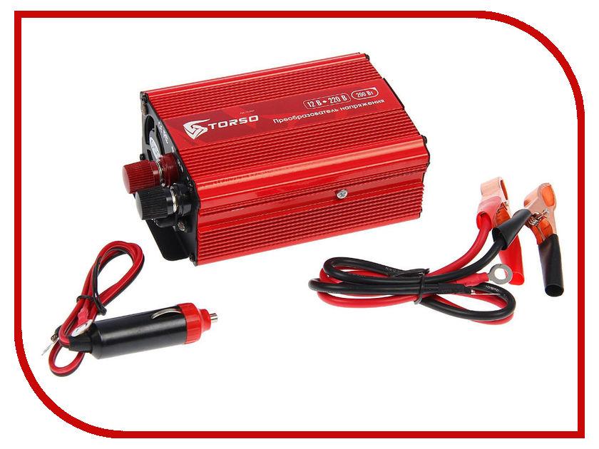 Автоинвертор Torso TP-12-200 (200Вт) 1410967 с 12В на 220В автоинвертор acmepower ap ds100 100вт преобразователь с 12в на 220в