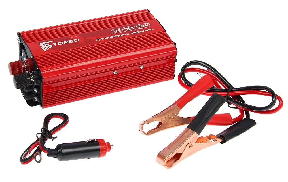 Автоинвертор Torso TP-12-1000 (1000Вт) 1410970 с 12В на 220В