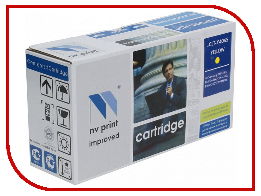 Картридж NV Print Yellow для CLP-360/365/368/CLX-3300/3305 1000k NV-CLTY406SY кобура кобура gletcher поясная для clt 1911
