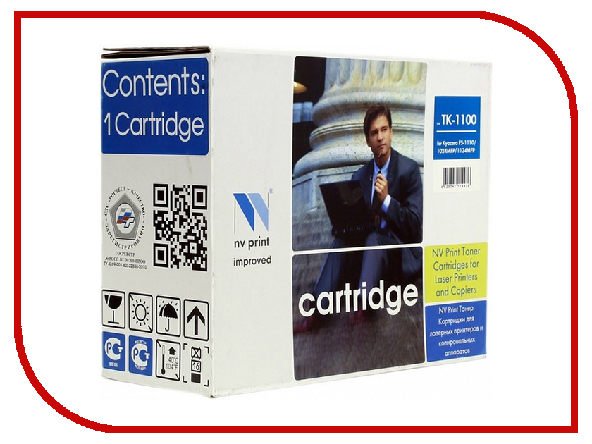 Картридж NV Print для FS-1110/1024MFP/1124MFP 2100k NV-TK1100 nv print ce743am