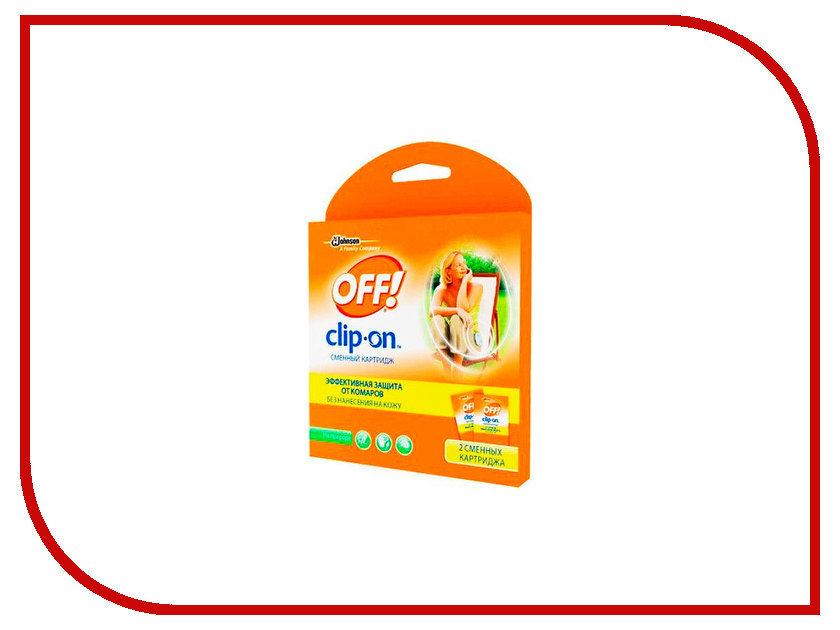 Средство защиты от комаров SC Johnson Off! Clip-On Комплект сменных картриджей 2шт 23979