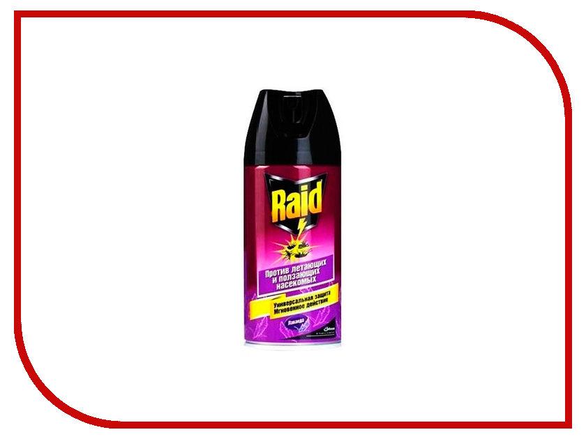 Средство защиты от комаров SC Johnson Raid Аэрозоль от летающих и ползающих насекомых Лаванда 300ml 22468