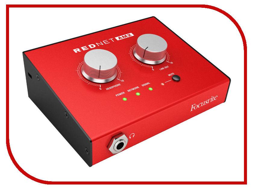 Аудиоинтерфейс Focusrite RedNet AM2 аудиоинтерфейс focusrite scarlett 18i8