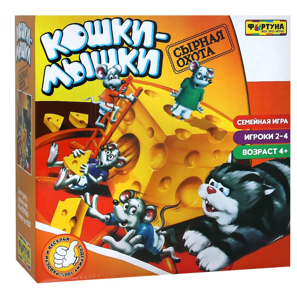 Настольная игра Фортуна Кошки-мышки Сырная погоня Ф51238