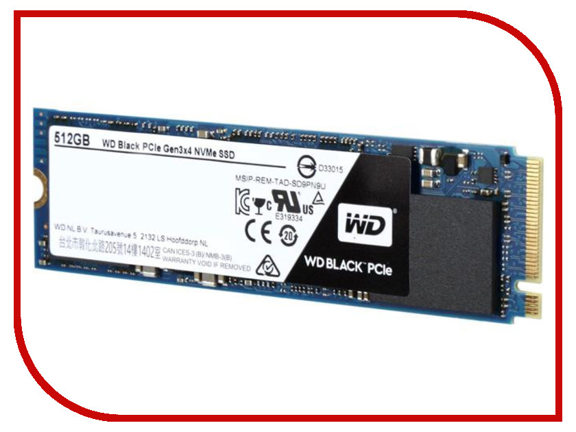 Жесткий диск 512Gb - Western Digital WDC Black WDS512G1X0C 512 левайс