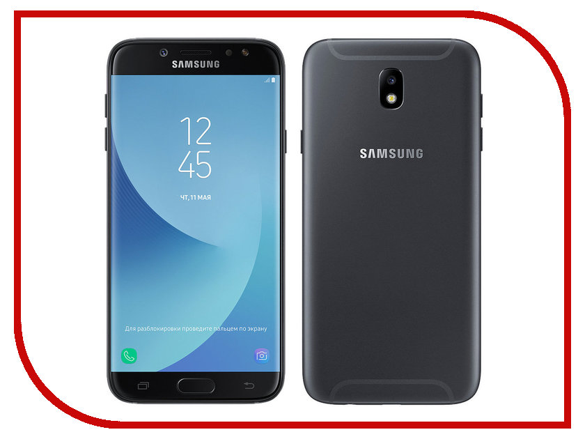 Сотовый телефон Samsung SM-J730FM/DS Galaxy J7 (2017) Black сотовый телефон samsung sm j320f ds galaxy j3 2016 black
