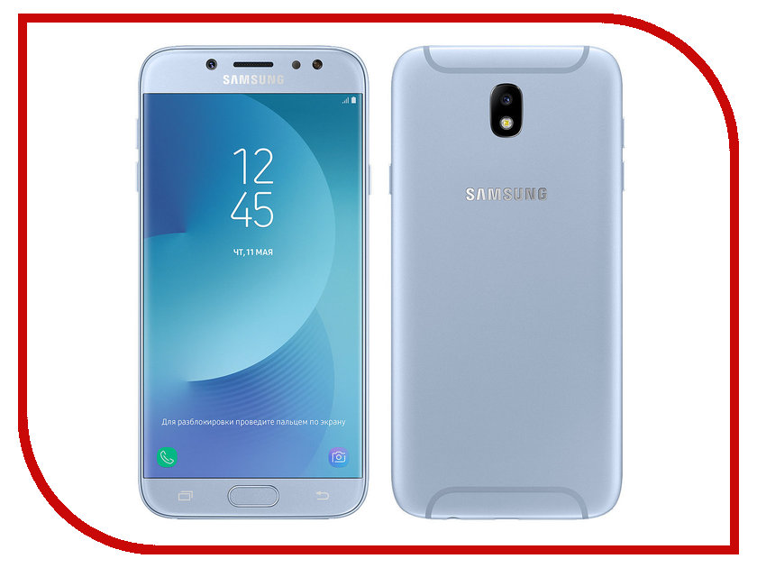 Сотовый телефон Samsung SM-J730FM/DS Galaxy J7 (2017) Blue сотовый телефон samsung sm j730fm ds galaxy j7 2017 blue
