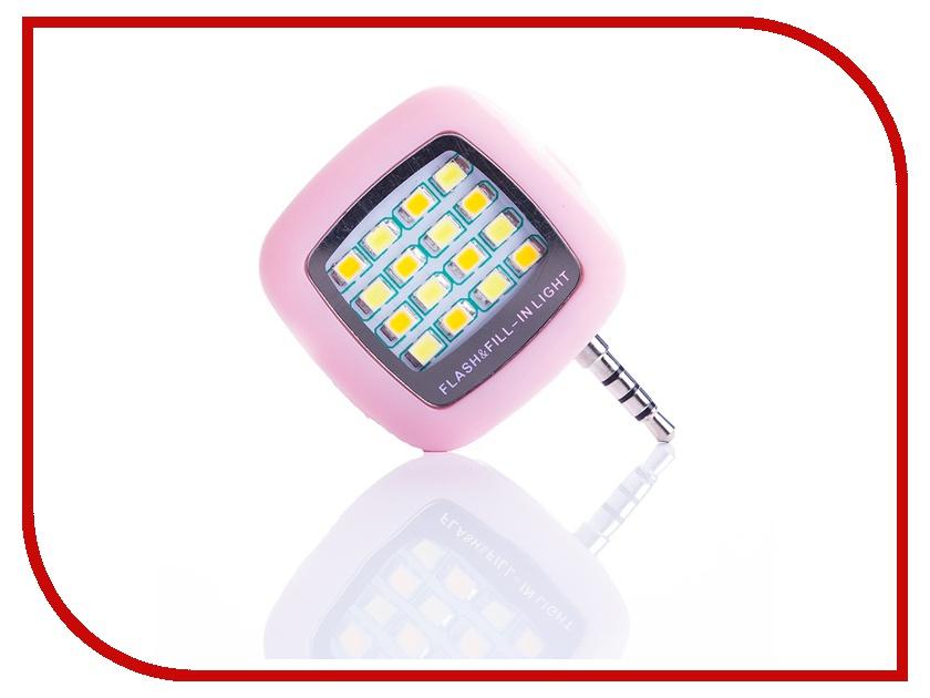 Гаджет Вспышка Activ LED Flash 16 диодов jack 3.5mm Pink 69457