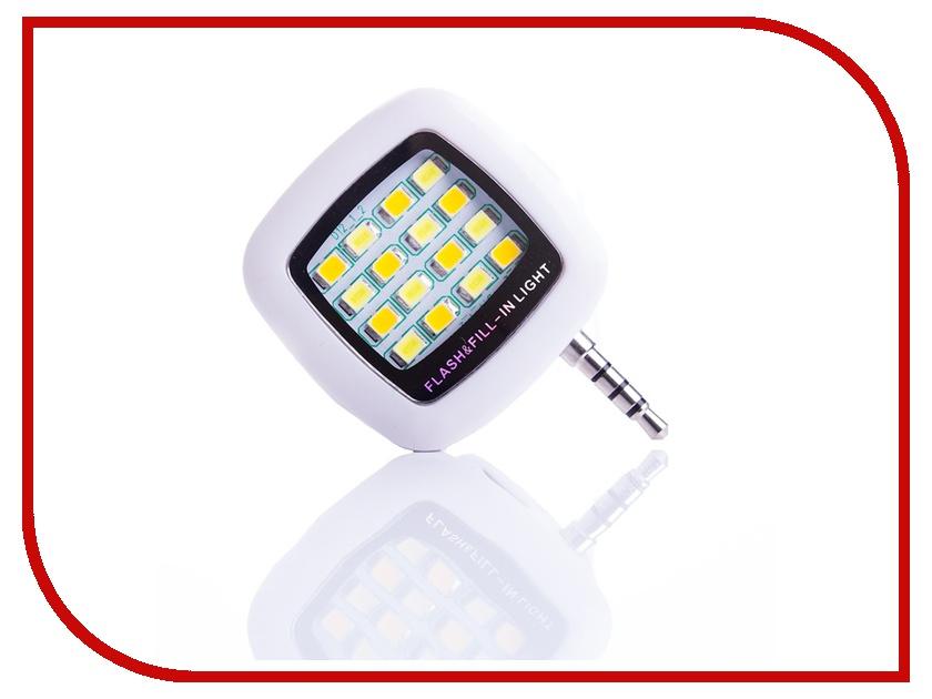 Гаджет Вспышка Activ LED Flash 16 диодов jack 3.5mm White 69455