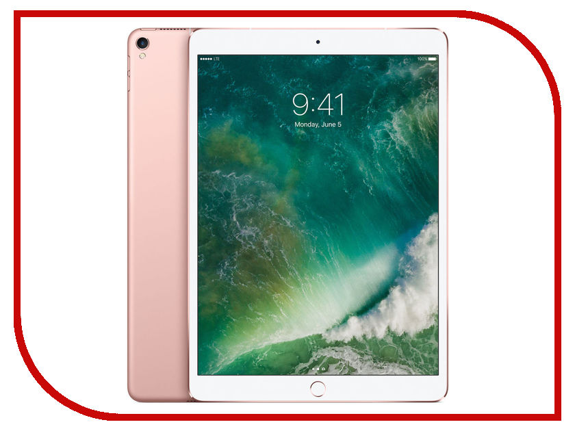 Планшетные компьютеры MPMH2RU/A  Планшет APPLE iPad Pro 2017 10.5 512Gb Wi-Fi + Cellular Rose Gold MPMH2RU/A