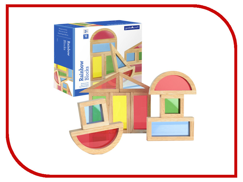 Конструктор Guidecraft Rainbow Blocks G3015 конструктор guidecraft io blocks minis 425 дет g9612